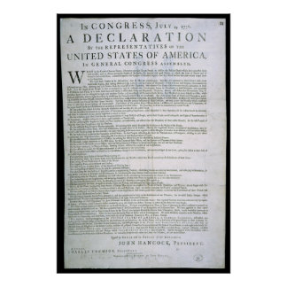 Declaration of Independence by Dunlap Poster