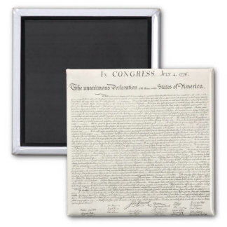 Declaration of Independence Document Magnet