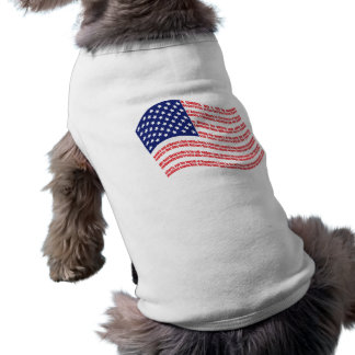Declaration of Independence Flag for Pets Shirt