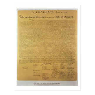 Declaration of Independence Postcard