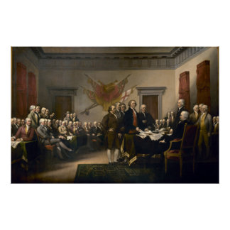 Declaration of Independence Presented To Congress Poster