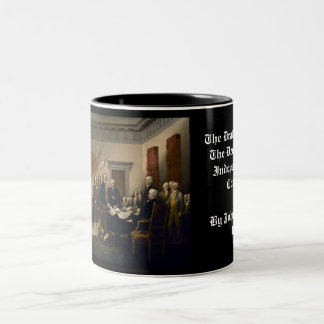 Declaration of Independence Presented To Congress Two-Tone Coffee Mug
