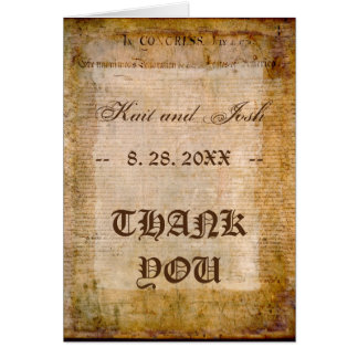 Declaration of Independence USA 1776 Thank You Card