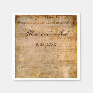 Declaration of Independence USA 1776 Wedding Paper Napkin