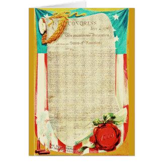 Declaration of Independence Vintage Card