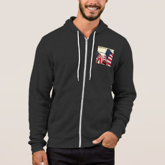 Declaration Of Independence with American flags Hoodie