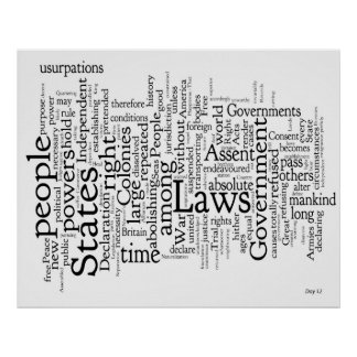 Declaration of Independence Word Cloud #2 Poster
