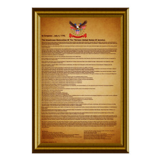Declaration of IndependenceV-2-Style-2 Poster