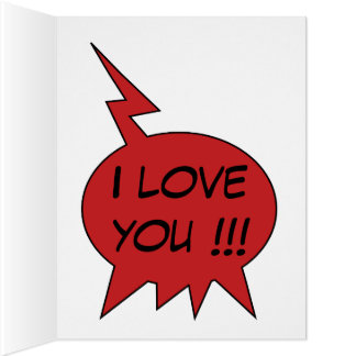 Declaration of Love 3 Comic Style Personalized Card