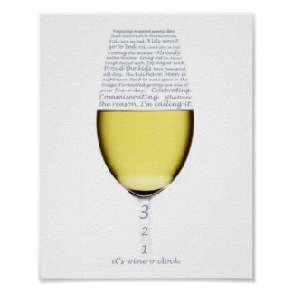 Declaration of wine o clock poster