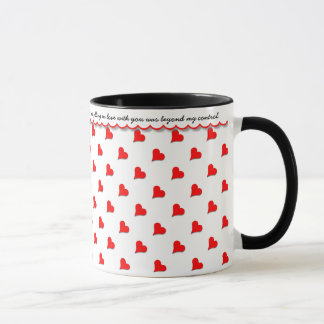 Declare Your Love, Red Hearts, Loving Message Mug