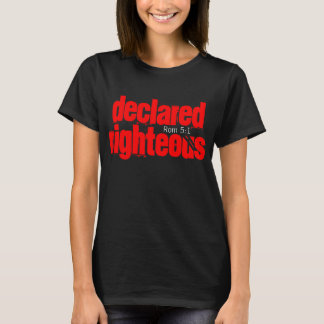 Declared Righteous Woman's Black T-Shirt