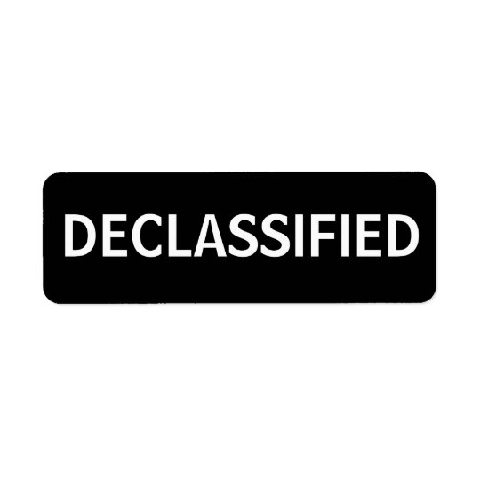 declassified return address label