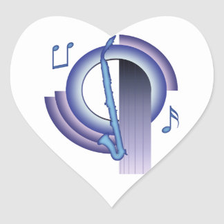 Deco Alto Clarinet Heart Sticker
