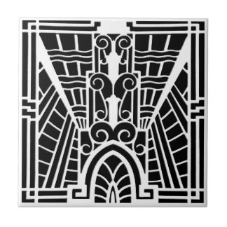 Deco Architectural Pattern, Black and White Tile