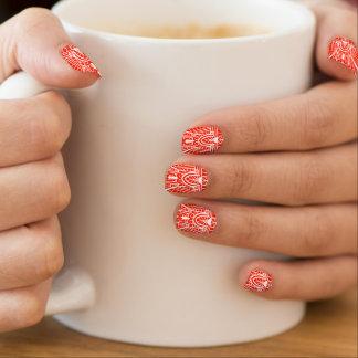 Deco Architectural Pattern, Mandarin Orange Minx Nail Art