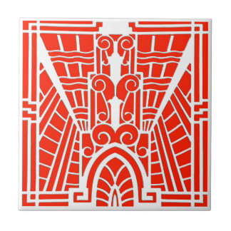 Deco Architectural Pattern, Mandarin Orange Tile