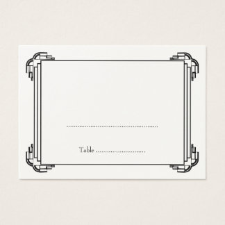 Deco black frame wedding guest escort place card
