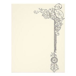 Deco Blank Book of Shadows Page