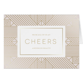 Deco Cheers Corporate Holiday Card