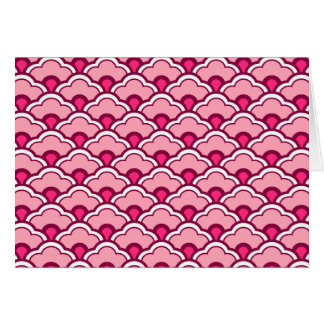 Deco Chinese Scallops, Fuchsia and Light Pink Card