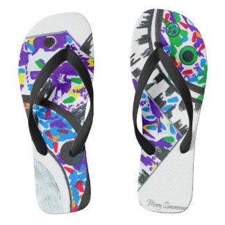 """""""Deco Cogs"""" flip flops"""