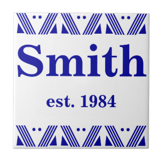 Deco Family name Tile