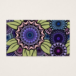 Deco Fandango in Lavender and Green Business Card
