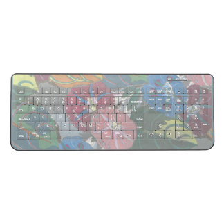 Deco Flowers and Leaves Wireless Keyboard
