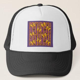 Deco Gold Butterflies Purple Art Trucker Hat
