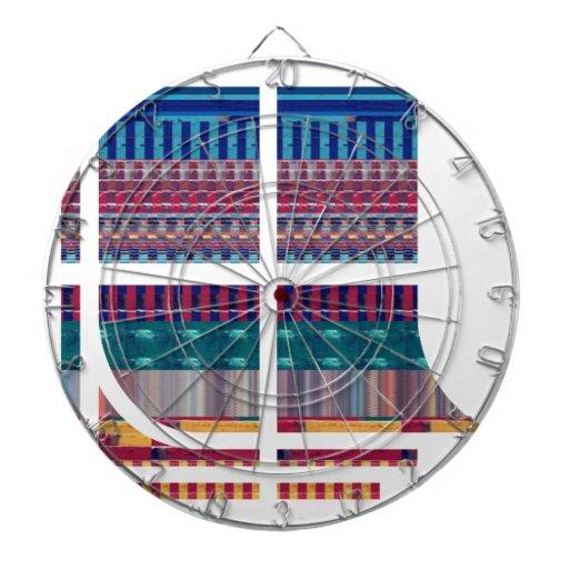 Deco Graphic Cutout Pattern Atom Science NVN690 fu Dartboard