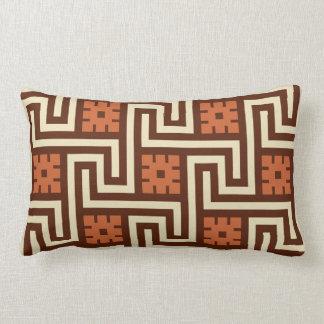 Deco Greek Key, Brown, Beige and Rust Lumbar Pillow