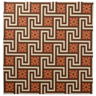 Deco Greek Key, Brown, Beige and Rust Napkin
