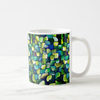 Deco green pattern coffee mug