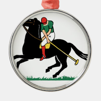 Deco Horse Polo Metal Ornament