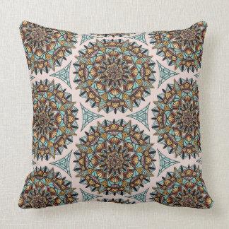 Deco Mandala Pattern Throw Pillow