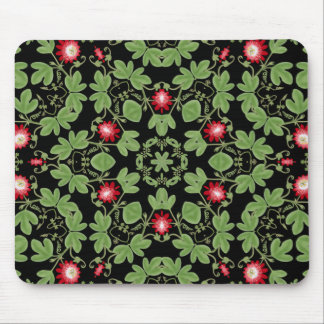 Deco Red Passionflower Mousepad