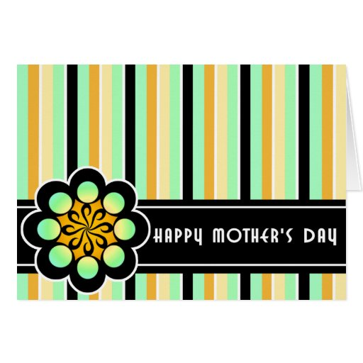 Deco Retro Mother's Day Card