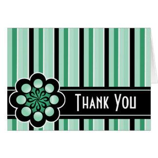 Deco Retro Thank You Card Mint Green
