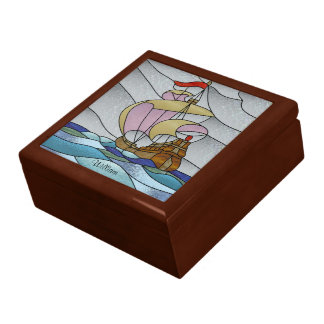 Deco Ship at Sea Gift Box