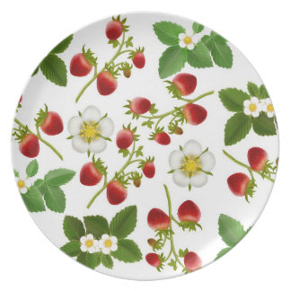 Deco Strawberry Floral Plate