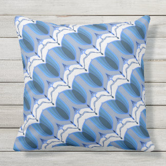 Deco stripes on the diagonal throw pillow