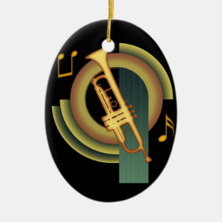 Deco Trumpet Ceramic Ornament