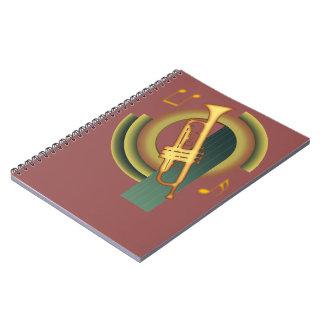 Deco Trumpet Spiral Note Book