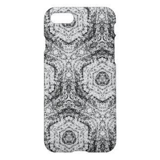 Decoarttive white grey black pattern iPhone 7 case