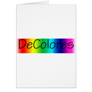 DeColores Greeting Card