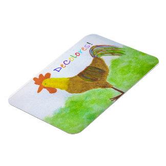 DeColores Rooster Premium Magnet