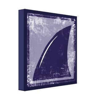 decor blue shark fin