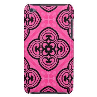Décor de kaléidoscope de victorian de roses indien coque iPod Case-Mate