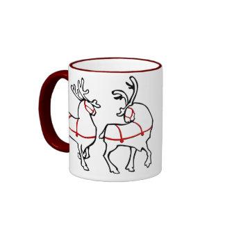 Décor fait sur commande de Noël de tasse de café d